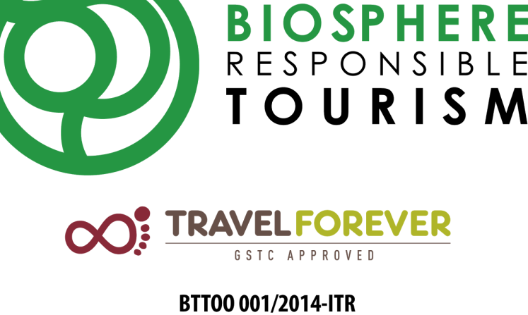 BGB is certified by Biosphere Responsible Tourism